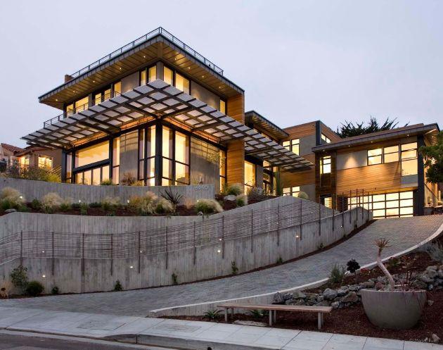 Wilkinson residence por el arquitecto robert harvey oshatz